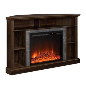 Ameriwood Home Overland Electric Corner Fireplace for TVs up to 50 Wide, Espresso-min